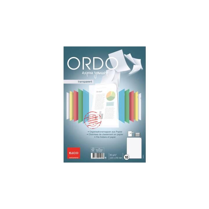 ELCO Sichthülle Ordo transparent A4 weiss 10 Stück