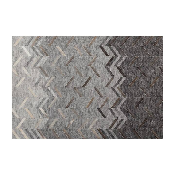 BELIANI Teppich Arkum (160 cm x 230 cm, Grau, Beige, Braun)