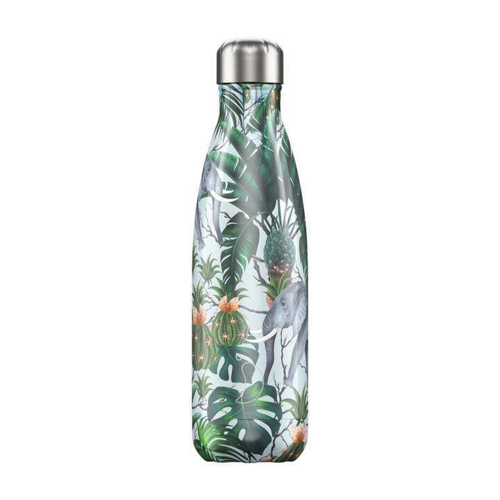 CHILLY'S Thermo Trinkflasche Tropical Elephant (500 ml, Mehrfarbig)