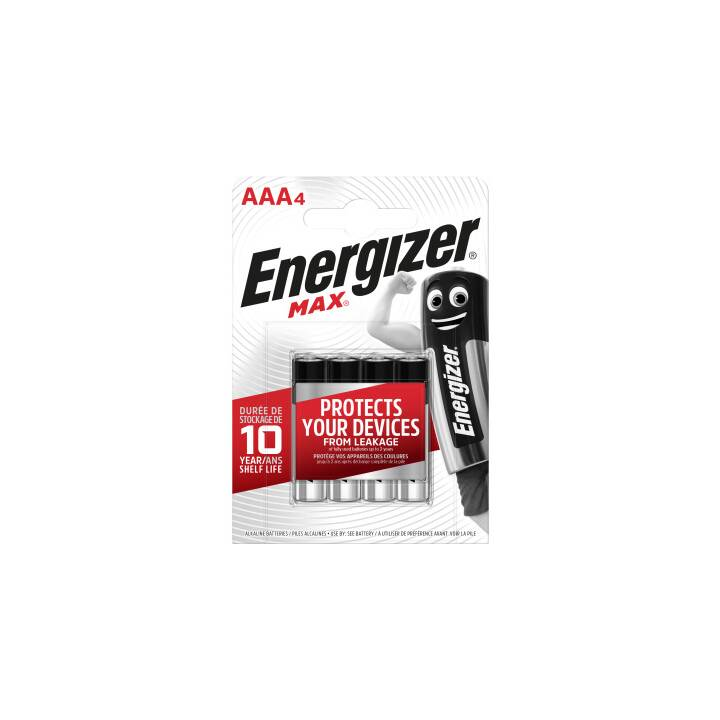 ENERGIZER Max Batterie (AAA / Micro / LR03, 4 pièce)