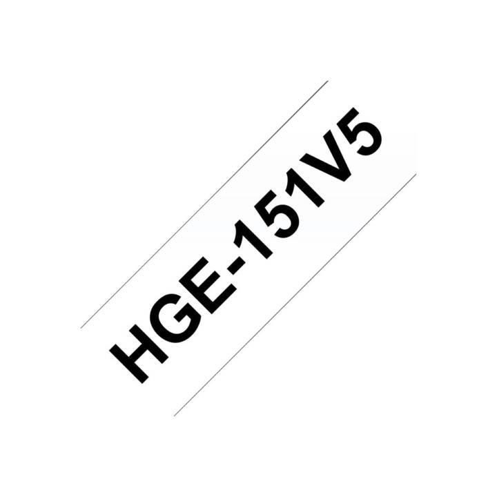 BROTHER P-touch Schriftband (8 m, 5 Stück)