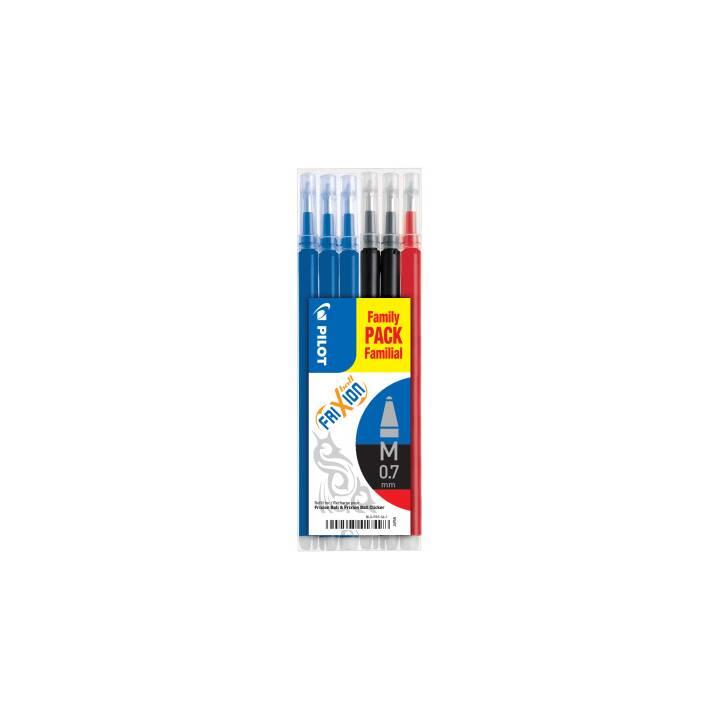 PILOT PEN Mine de stylo roller (Bleu, Noir, Rouge, 0.7 mm, 6 pièce)