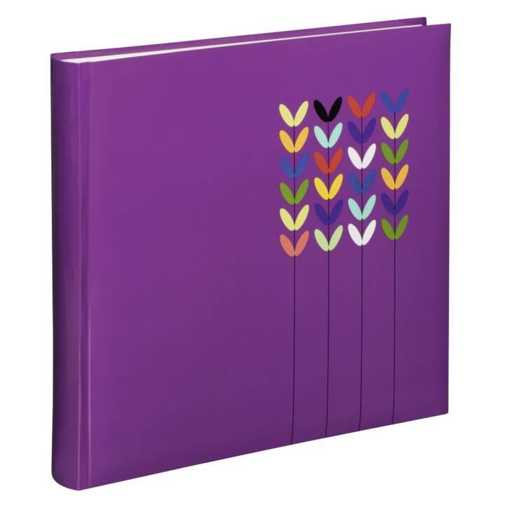 "HAMA Jumbo-Album ""Blossom"", 30x30 cm, 80 weisse Seiten, Lila"