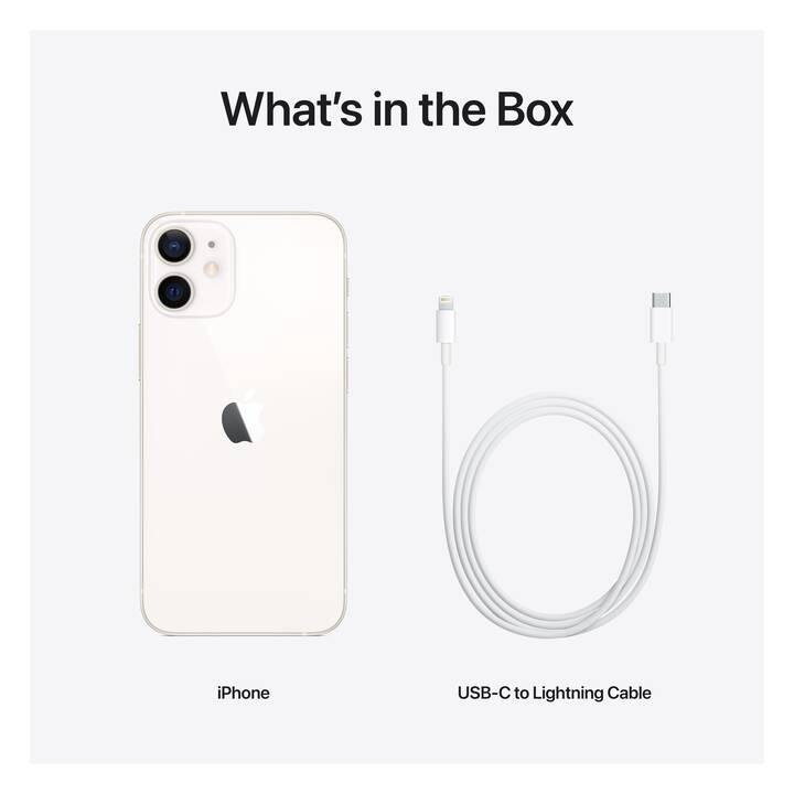 """APPLE iPhone 12 mini (5G, 5.4"""", 128 GB, 12 MP, Bianco)"""