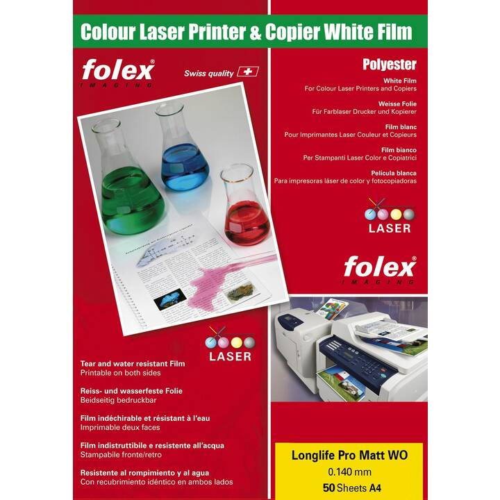 FOLEX IMAGING Longlife Pro Matt Pellicole (A4, 50 foglio)