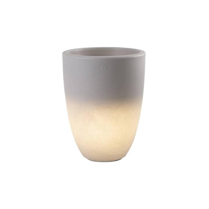 8 SEASONS DESIGN Shining Curvy Pot M Luce solare (LED incorporato, 6 W, Grigio)