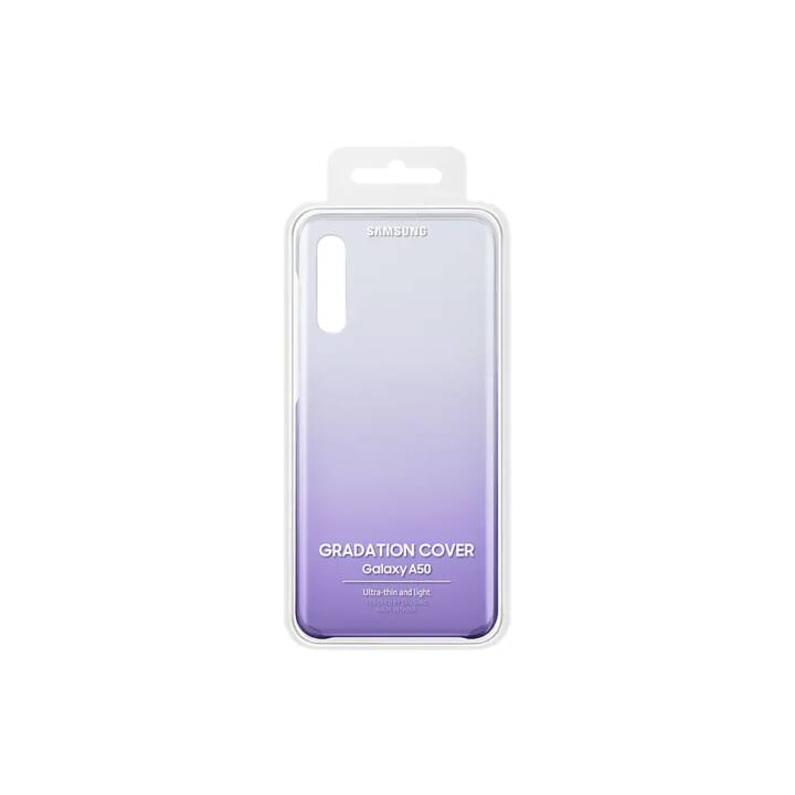 SAMSUNG Coque rigide Gradation (Galaxy A50, Violet, Transparent)