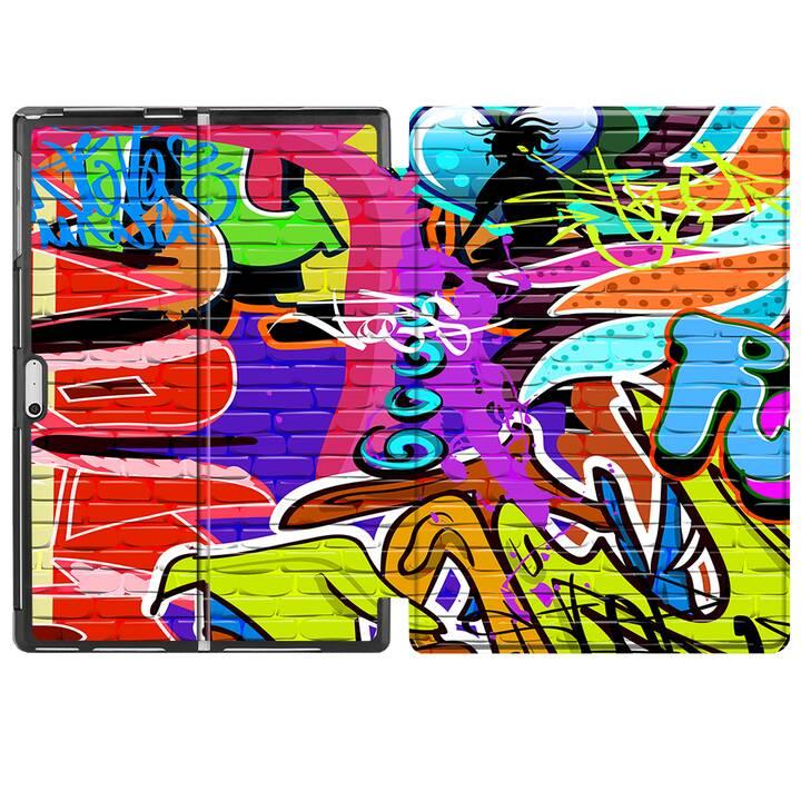 """EG MTT Étui pour Microsoft Surface Pro 4/5/6 12.3"""" (2018) - Graffiti"""
