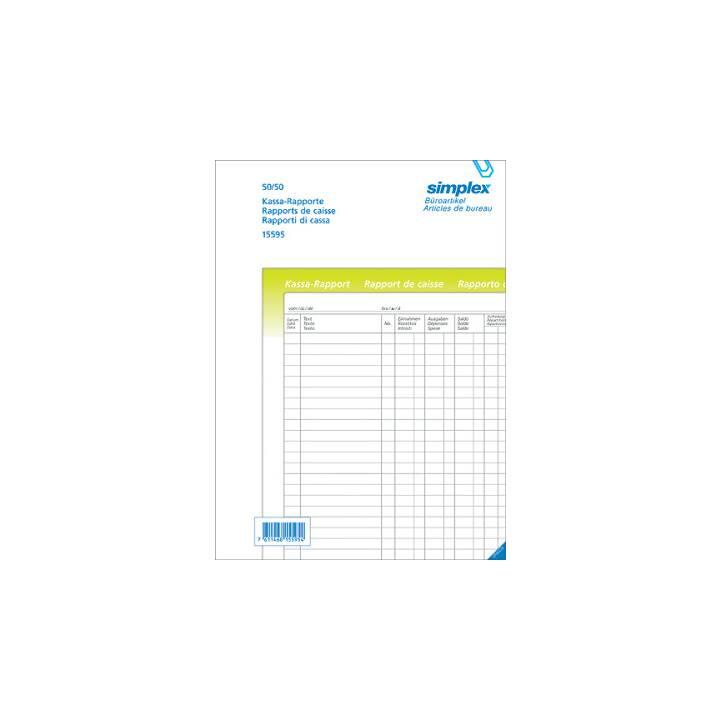 Rapport de caisse SIMPLEX A4 trilingue