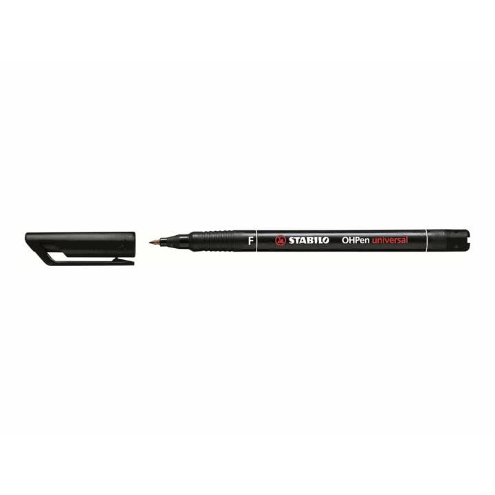 Penna in fibra STABILO OHP nero
