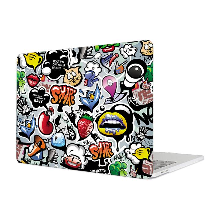 "EG MTT Cover per Macbook Pro 13"" Not Touchbar (2016-2018) - Graffiti"