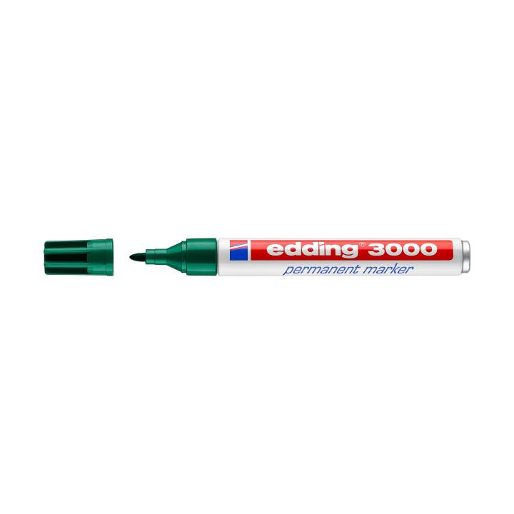 EDDING Marcatore Permanente 3000 1,5-3mm, verde, impermeabile