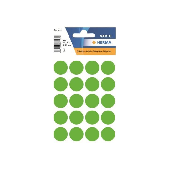 HERMA Etiketten rund 19mm grün