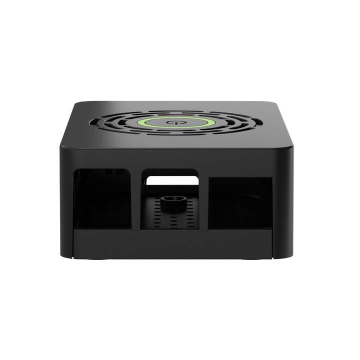 OKDO Black power-HAT Case for Pi 4 Model B