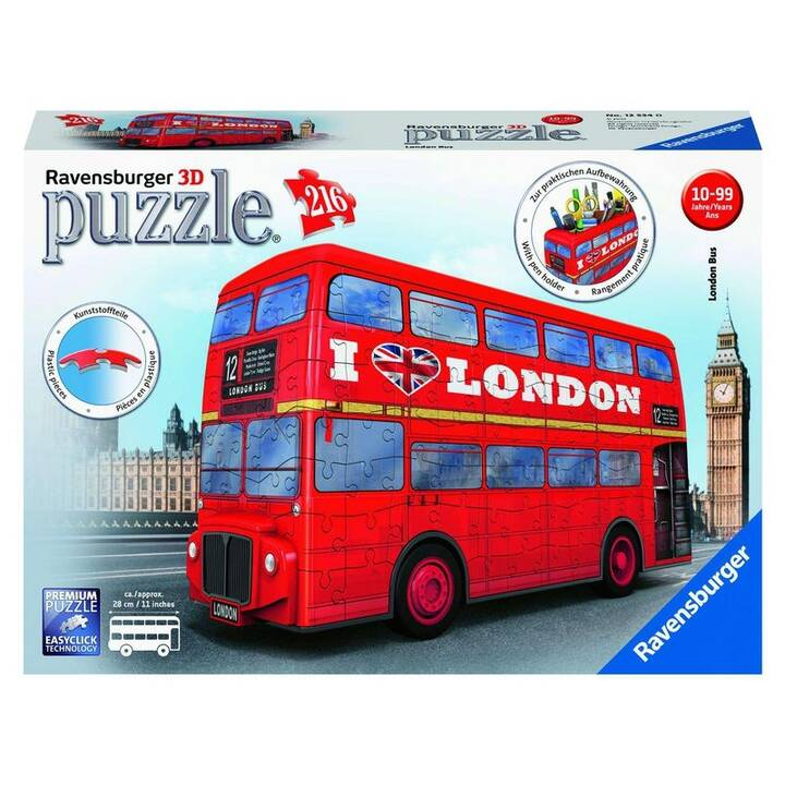 RAVENSBURGER London Bus (216 x, 3D Puzzle)