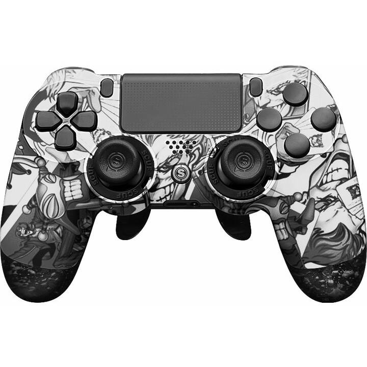 SCUF GAMING Infinity 4PS Pro - Jester Gamepad (Bianco, Grigio)