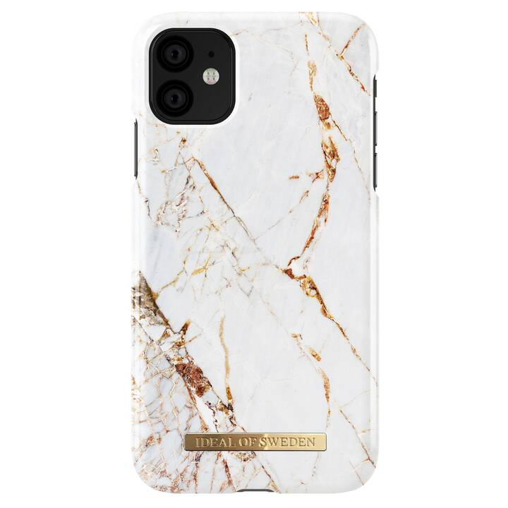 IDEAL OF SWEDEN Backcover Carrara Gold (iPhone 11, Blanc)