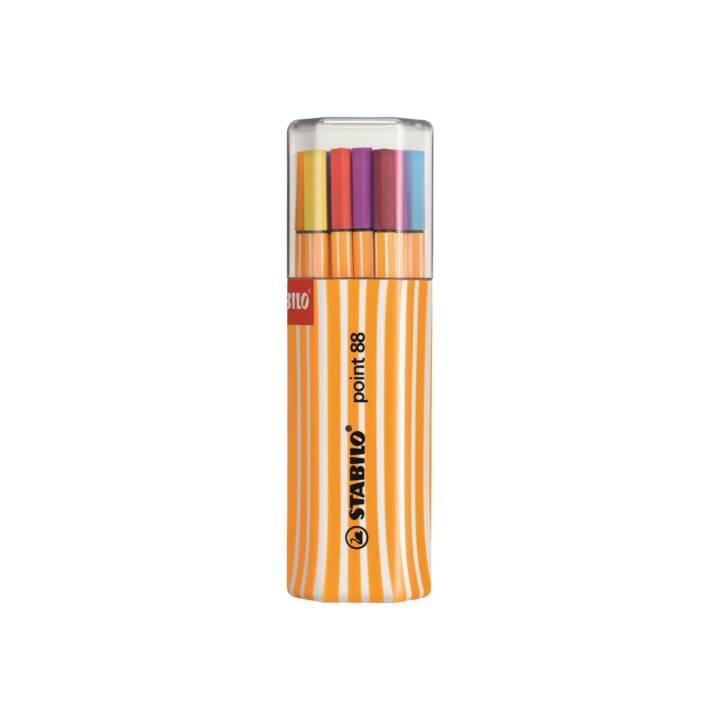 STABILO Penna in fibra Point 88 20 colori, scatola