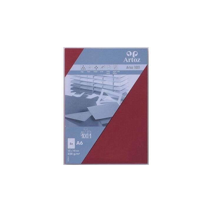 ARTOZ Cartes en blanc (Universel, A6, Rouge)