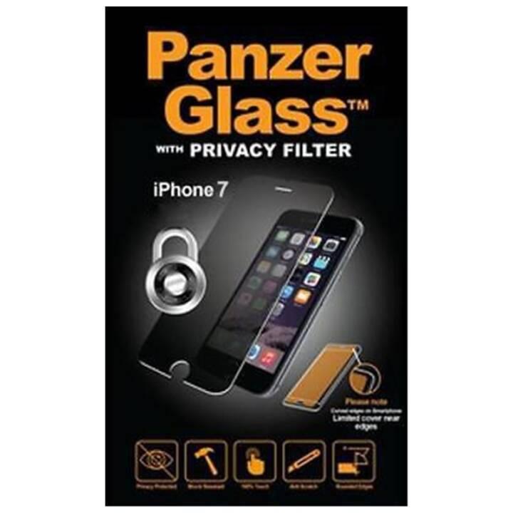 PANZERGLASS Verre de protection d'écran Privacy (Cristallin, iPhone SE, iPhone 8, iPhone 7)