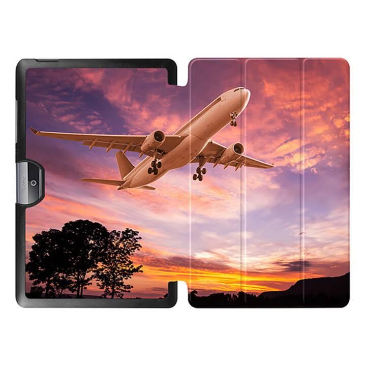 """EG MTT Tablet Tasche mit faltbarer Abdeckung für Acer Iconia Tab 10 10.1 """"- Flugzeug"""