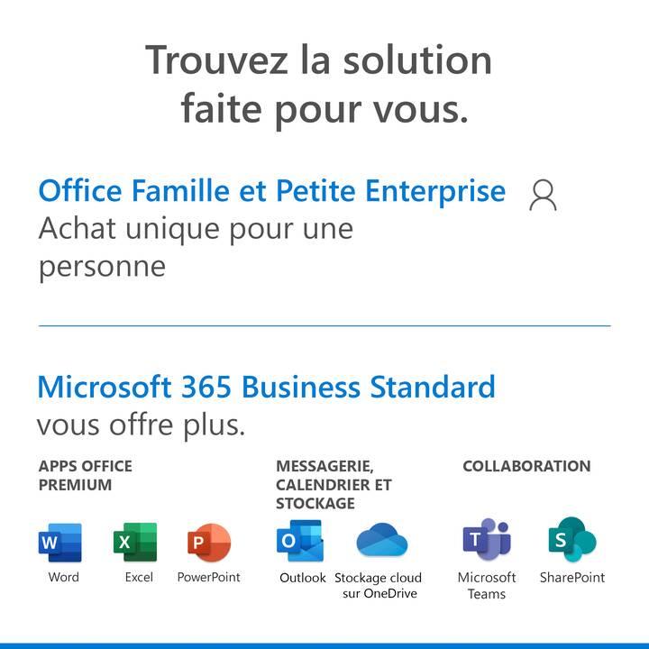 MICROSOFT Office Famille & Petit Entreprise 2019 (Vollversion, 1x, Französisch)