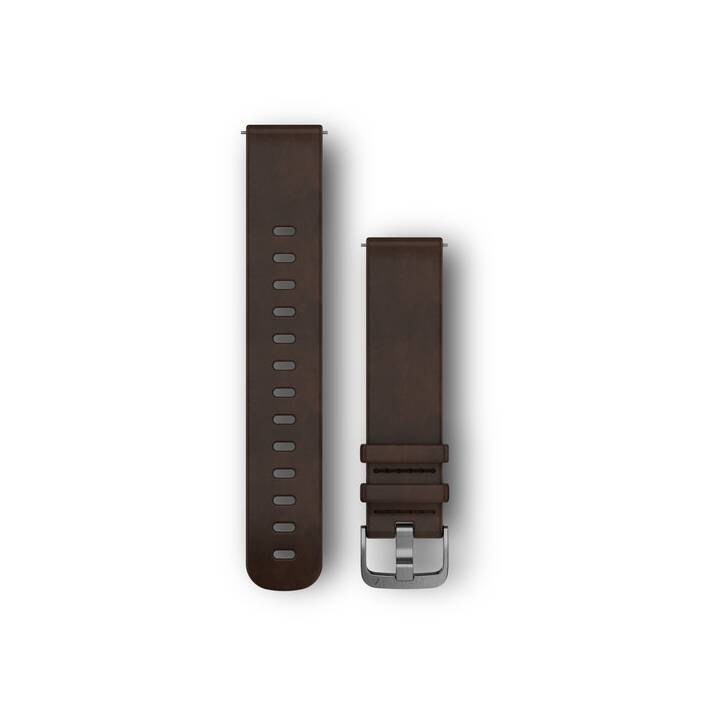 GARMIN Bracelet cuir Vivo marron foncé