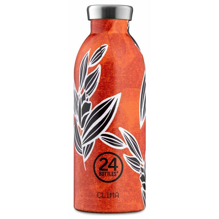 24BOTTLES Bottiglia sottovuoto Clima (0.5 l, Arancione, Bianco, Nero)