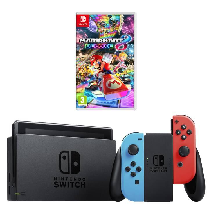 NINTENDO Switch New Neon + Mario Kart 8 Deluxe 32 GB (Tedesco)