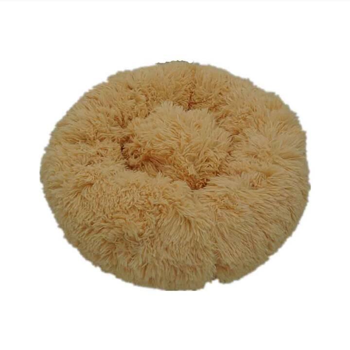 EG rutschfestes rundes Haustierkissen (50 cm) - Haustier weniger als 5 kg - Beigegelb