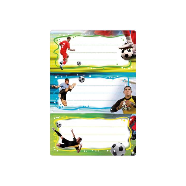 HERMA Etichette per la scuola Soccer (Multicolore, 6 pezzo)