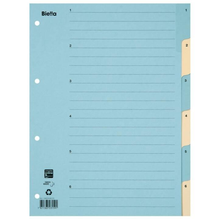 BIELLA Register A4 1 - 6 Karton Blau
