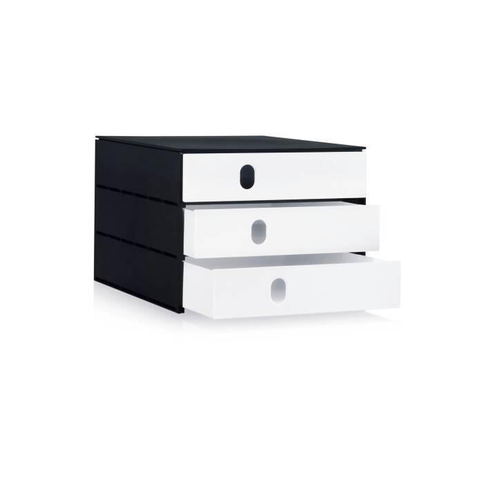 STYRO PRO boîte à tiroirs, C4, noir, blanc