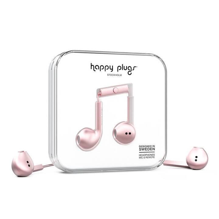 HAPPY PLUGS Earbud Plus (Earbud, Rosa, Gold)
