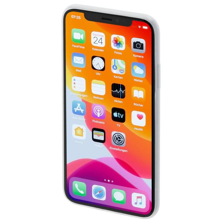 HAMA Backcover Ultra Slim Flexible (iPhone 11 Pro, Blanc)