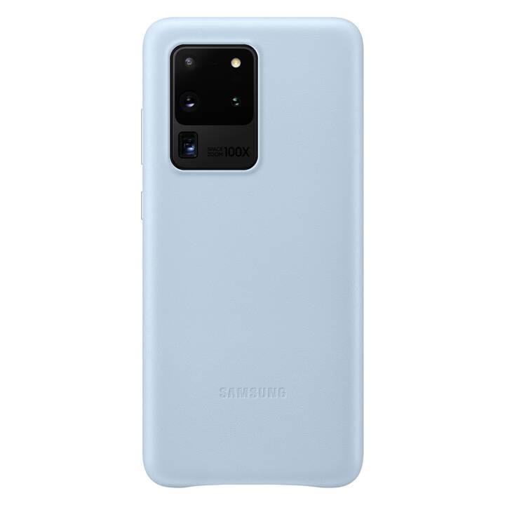 SAMSUNG Backcover Leather (Galaxy S20 Ultra, Blu chiaro)