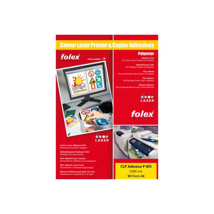 Etichette FOLEX con carta siliconata 210 x 297 mm