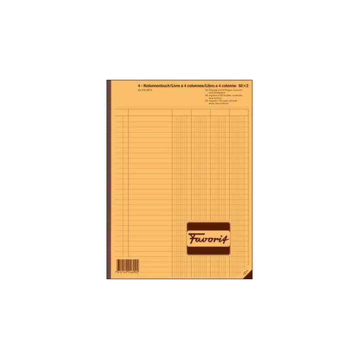 Cahier FAVORIT SPA autocopiant, A4, 100 feuilles