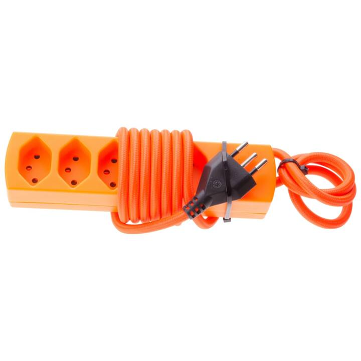 MAX HAURI Barrette d'alimentation maxTex 5xTyp13 Orange