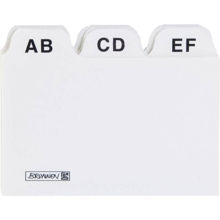 BRUNNEN Scheda per schedario (A8, Grigio, In bianco, 25 pezzo)