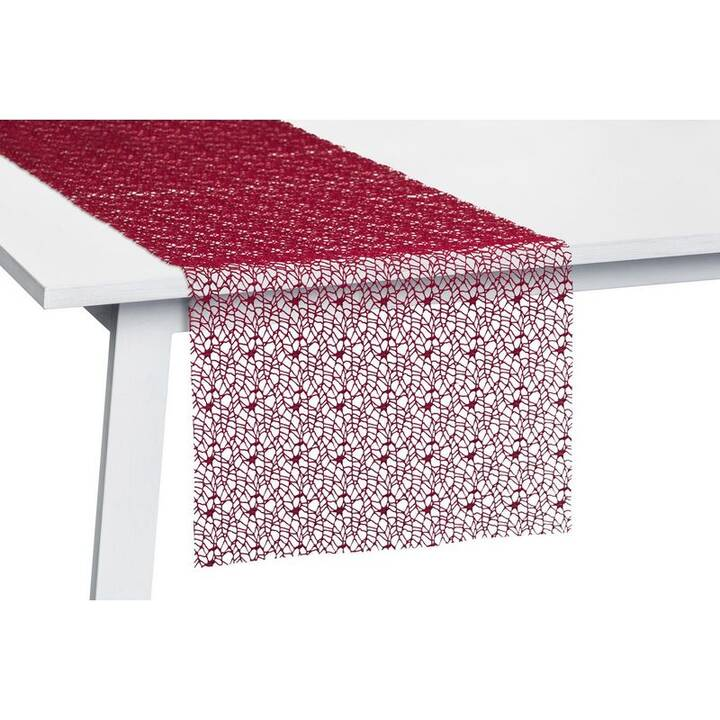 PICHLER Chemin de table Network (30 cm x 260 cm, Rectangulaire, Bourgogne)