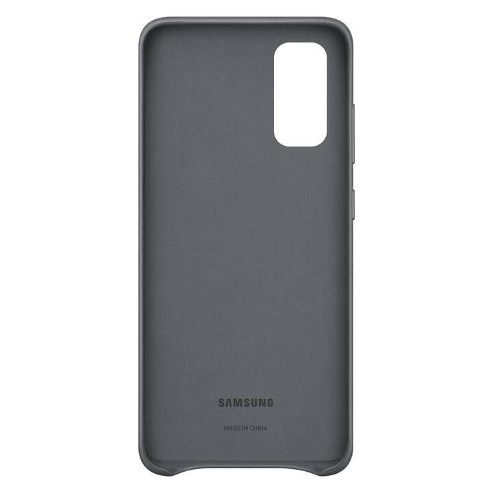 SAMSUNG Backcover Leather (Galaxy S20, Grigio)