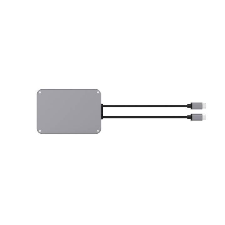 LMP Réplicateur de ports  USB-C (VGA, Port écran, DVI, Mini DisplayPort, HDMI, USB de type C, RJ-45 (LAN), 2 x USB 3.0 de type A)