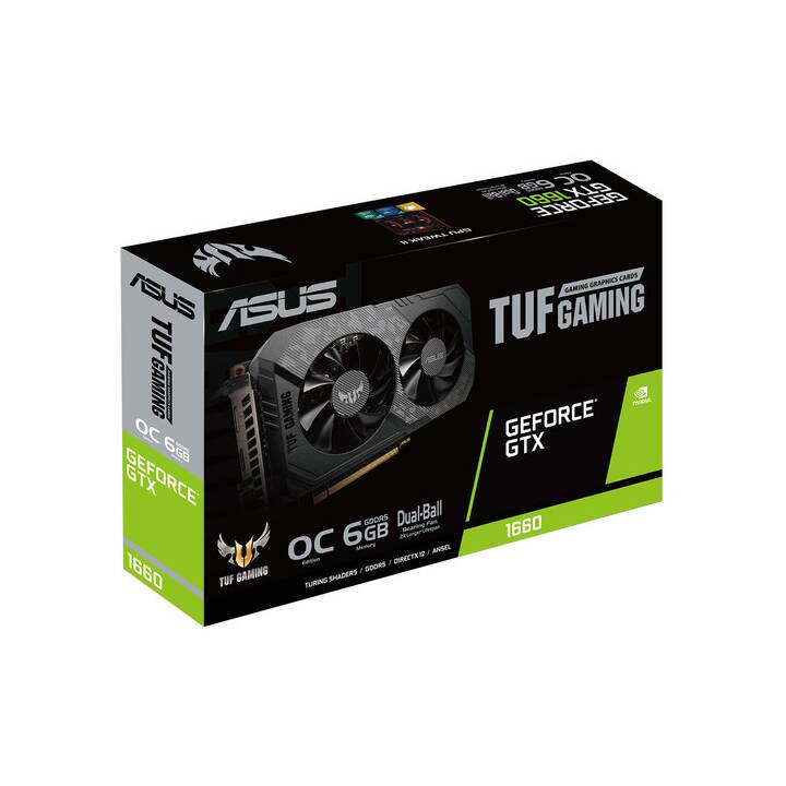 ASUS 90YV0D15-M0NA00 Nvidia GeForce GTX 1660 (6 GB, Midrange)