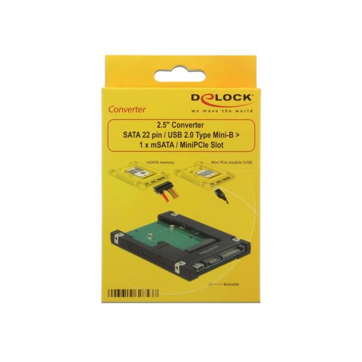 "DELOCK 2.5"" Adapterplatine mSATA/Mini-PCI-Express"