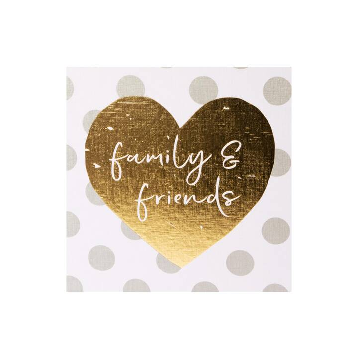 GOLDBUCH Family & Friends Album fotografico (Bianco, Argento, Oro, Grigio)