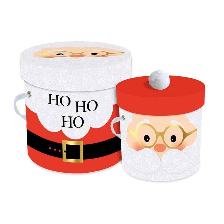 BRAUN + COMPANY Geschenkbox Santas Belly (Rot, Schwarz, Weihnachten)
