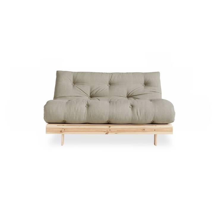 KARUP DESIGN Roots 140 Canapé-lit (Polyester, Gris, Beige, 140 cm x 105 cm)