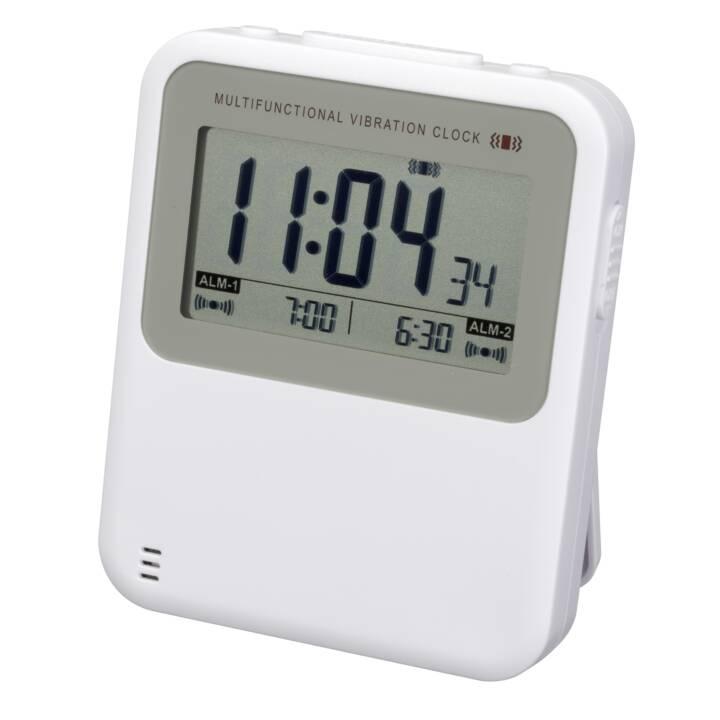 INTERTRONIC Vibrationsalarm RC Vibration Alarm Clock White