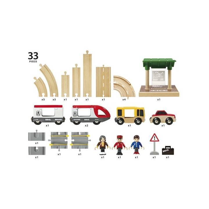 BRIO Set di treni passeggeri stradali e ferroviari